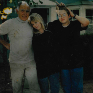 Grandfather, my mother (his former daughter-in law), and a 16-year-old me. He had just taught me how to parallel park.